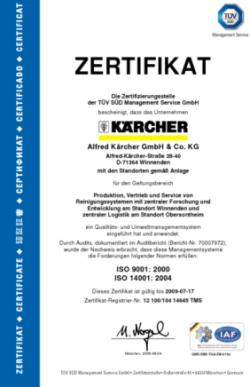 Сертификат наAlfred Karcher GMBH
